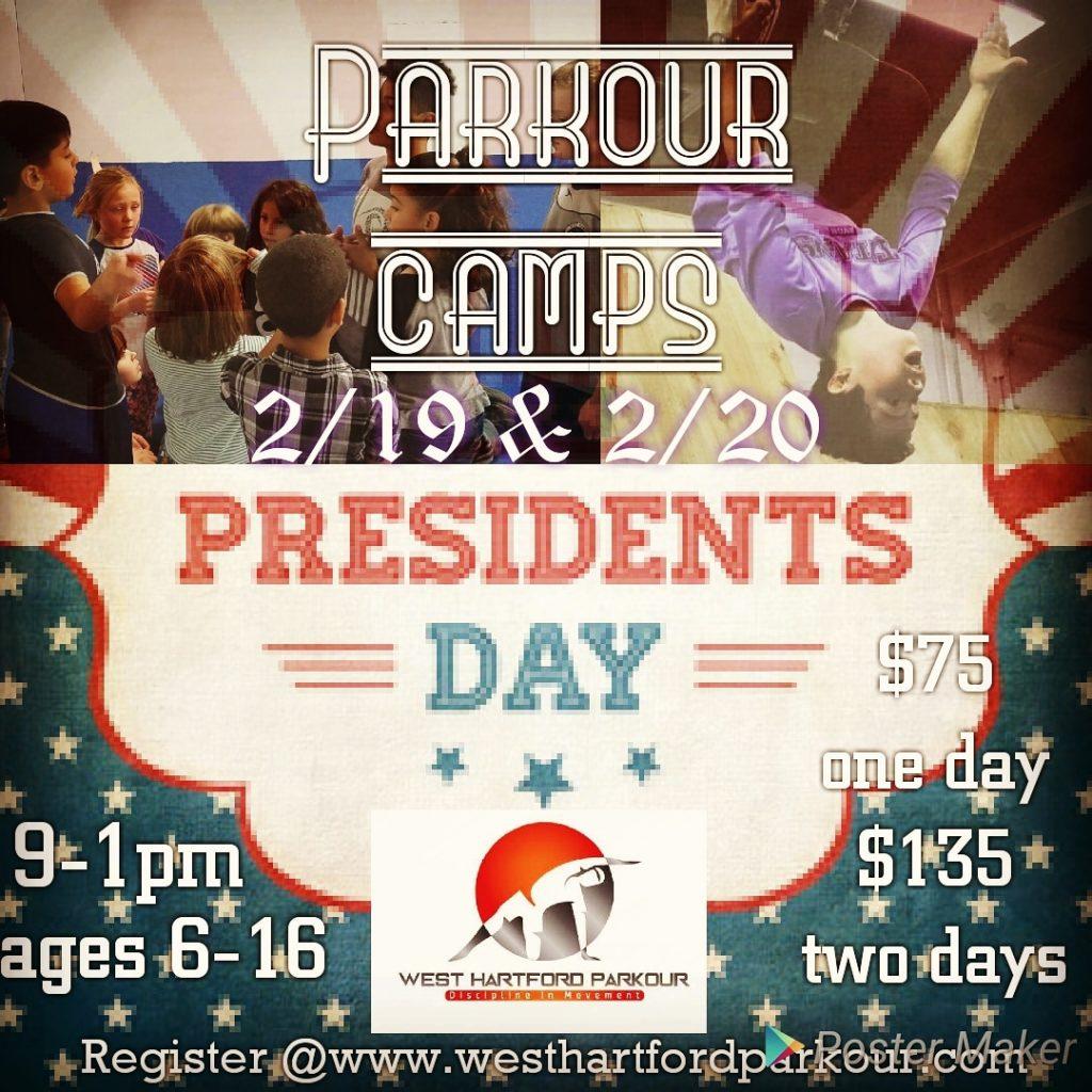 West Hartford Parkour Presidential Camps