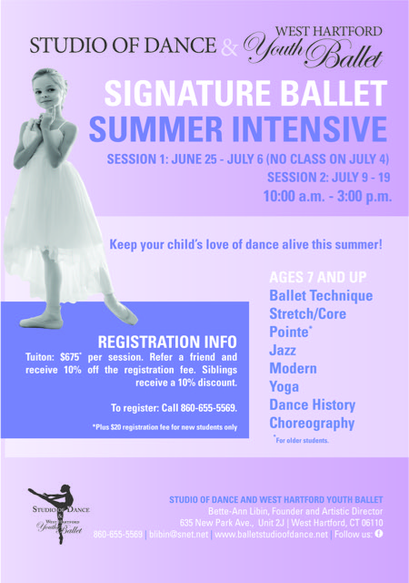 Signature Ballet Summer Dance Intensive in Central CT