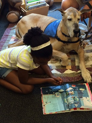 Summer Reading Buddies with Bright Spot Therapy Dogs