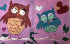 Owl Family Painting