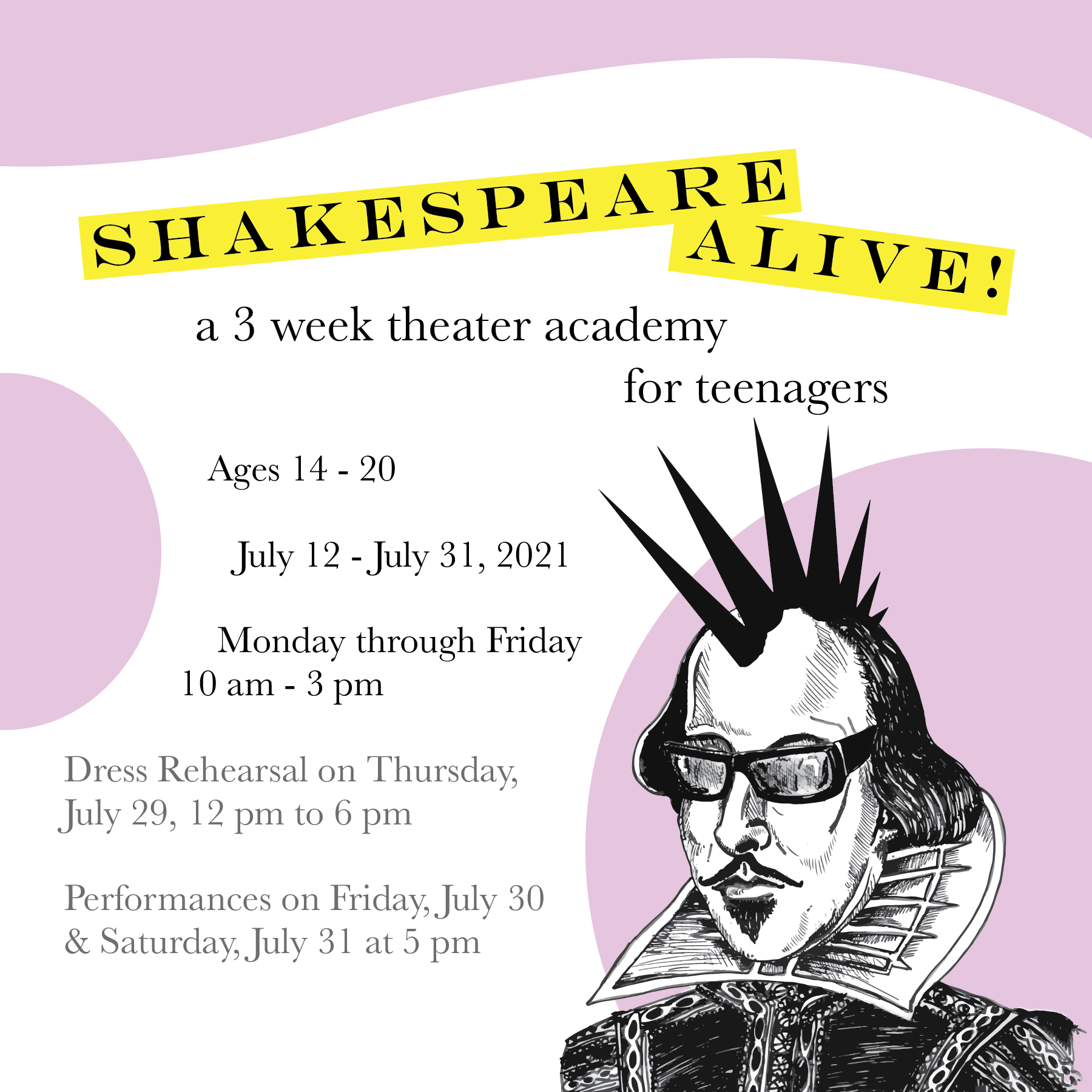 Shakespeare Summer Theater Academy for Teens
